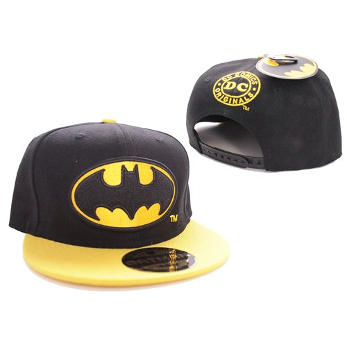 Batman Boné Beisebol Black Bat Logo Black