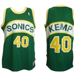 Camiseta de Suspensórios Seattle SuperSonics Hardwood Classic Shawn Kemp 40