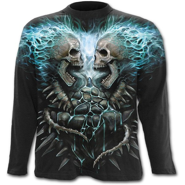 Camiseta manga longa Spiral Flaming Spine