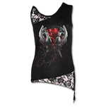 Camiseta de Suspensórios Spiral Hands Of Sorrow