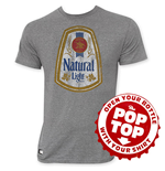 Camiseta Natural Light de homem