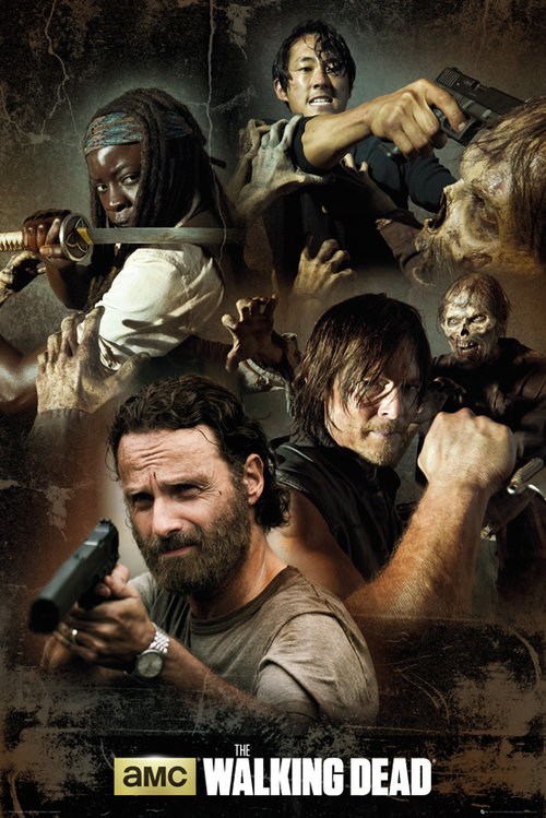 Póster The Walking Dead Collage