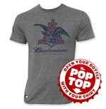 Camiseta Budweiser de homem Pop Top Vintage Eagle Logo