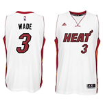 Camiseta Miami Heat Dwyane Wade adidas White New Swingman Home