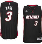 Camiseta Miami Heat Dwayne Wade adidas Black New Swingman Road