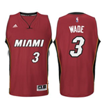 Camiseta Miami Heat Dwyane Wade adidas Red New Swingman Alternate