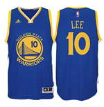 Camiseta Golden State Warriors David Lee adidas Royal Blue New Swingman Road