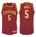 Camiseta Cleveland Cavaliers J. R. Smith adidas Garnet New Swingman Road