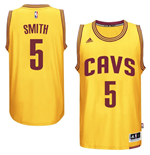 Camiseta Cleveland Cavaliers J. R. Smith adidas Gold New Swingman Alternate