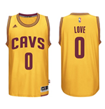 Camiseta Cleveland Cavaliers Kevin Love adidas Gold New Swingman Alternate