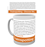 Caneca Trainspotting - Frase