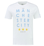 Camiseta Manchester City FC 2015-2016 Nike Squad Core Type (Branco)