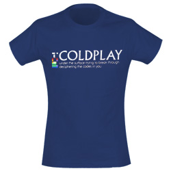 Camiseta Coldplay 148975