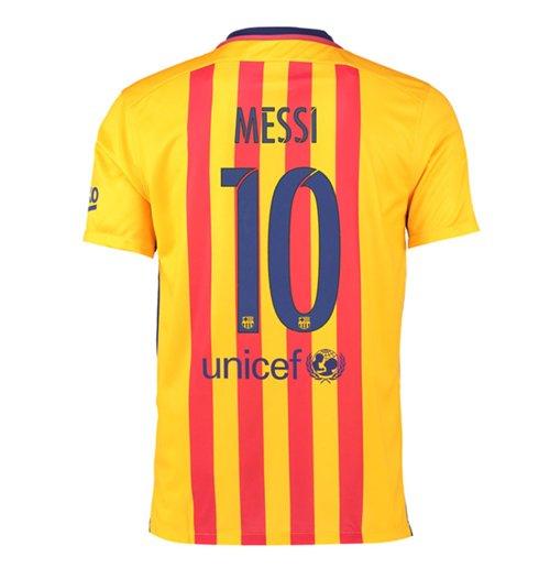 Compra Camiseta FC Barcelona 2015-16 Away (Messi 10) de criança 2b40c5155738f