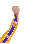 Tatuagem falso (manga) Os Angeles Lakers