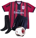 Kit AC Milan Home 2015/16 L Adriano e Bacca