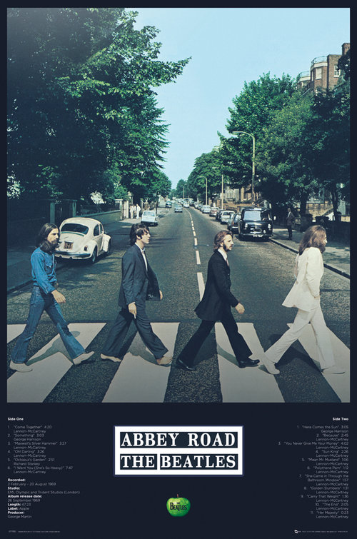 Póster The Beatles Abbey Road Tracks