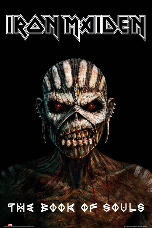 Póster Iron Maiden The Book Of Souls