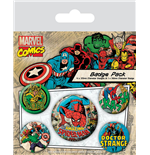 Marvel Comics Pack 5 Chapas Spider-Man