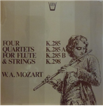Vinil Mozart Wolfgang Amadeus - Quartets For Flute And Strings: K 285b, 298, 285, 285a  - Redel Kurt  Fl/members Of The Koeckert Quartet