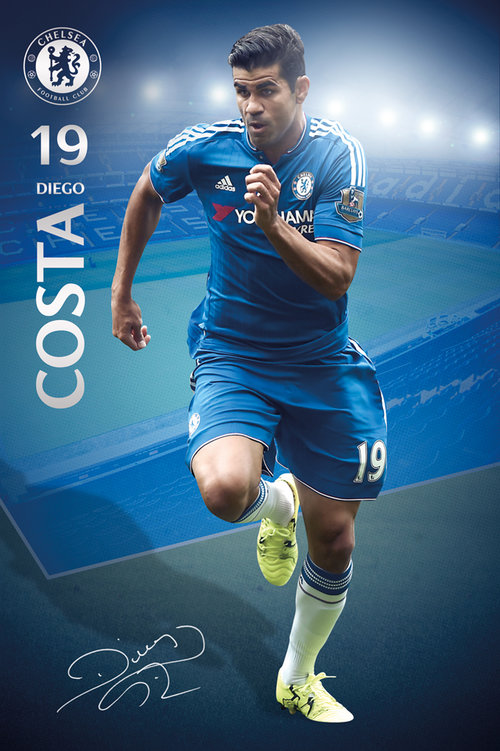 Póster Chelsea Costa 15/16