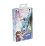 Set Colar + Anillo de Metal Frozen Azul