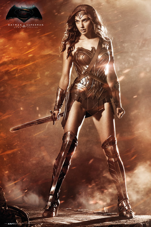 Póster Batman vs Superman Wonder Woman