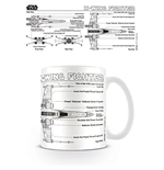 Caneca Star Wars - X Wing Fighter Sketch