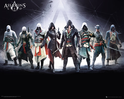 Póster Assassins Creed Characters