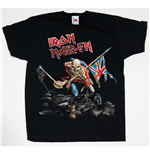 Camiseta Iron Maiden de menino Trooper