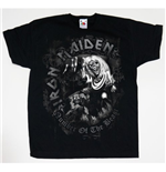Camiseta Iron Maiden de menino Number of the Beast