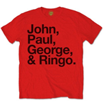 Camiseta Beatles John, Paul, George & Ringo
