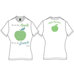 Camiseta Beatles A Is For Apple de mulher