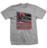 Camiseta Star Wars Episode VII Dameron Vintage