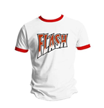 Camiseta Queen Flash White and Red Ringer