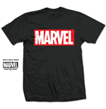 Camiseta Marvel Superheróis Marvel Box Logo