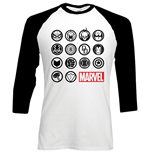 Camiseta manga longa Marvel Superheroes Marvel Icons