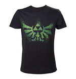 Camiseta The Legend of Zelda Distress Green Royal Crest - P