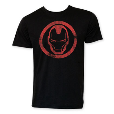 Camiseta Iron Man Black Circle Logo