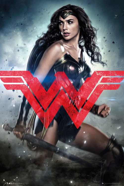 Poster Batman vs Superman Wonder Woman Só