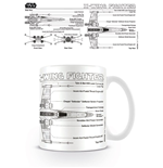 Star Wars Caneca X-Wing Fighter Sketch