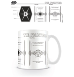 Star Wars Caneca Tie Fighter Sketch