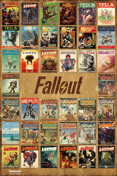 Póster Fallout 4 Magazine Compilation