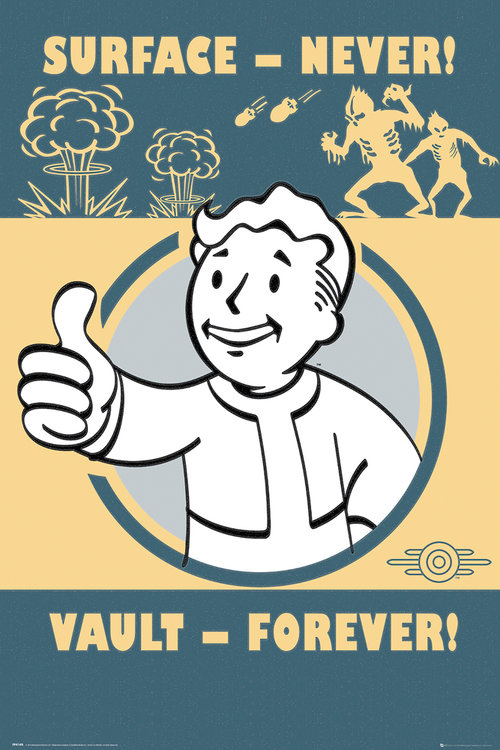 Póster Fallout Vault Forever