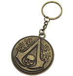 Chaveiro Assassins Creed - Round Metal Crest & Skull