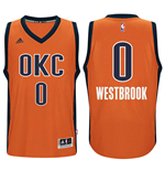 Camiseta Oklahoma City Thunder Russell Westbrook adidas Orange New Swingman Alternate