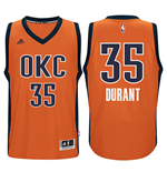 Camiseta Oklahoma City Thunder Kevin Durant adidas Orange New Swingman Alternate