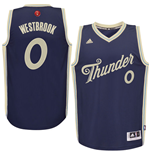 Camiseta Oklahoma City Thunder Russell Westbrook adidas Navy 2015 Christmas Day Swingman