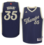 Camiseta Oklahoma City Thunder Kevin Durant adidas Navy 2016 Christmas Day Swingman