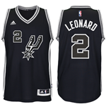 Camiseta Santo Antonio Spurs Kawhi Leonard adidas Black New Swingman 2016 Black Spur